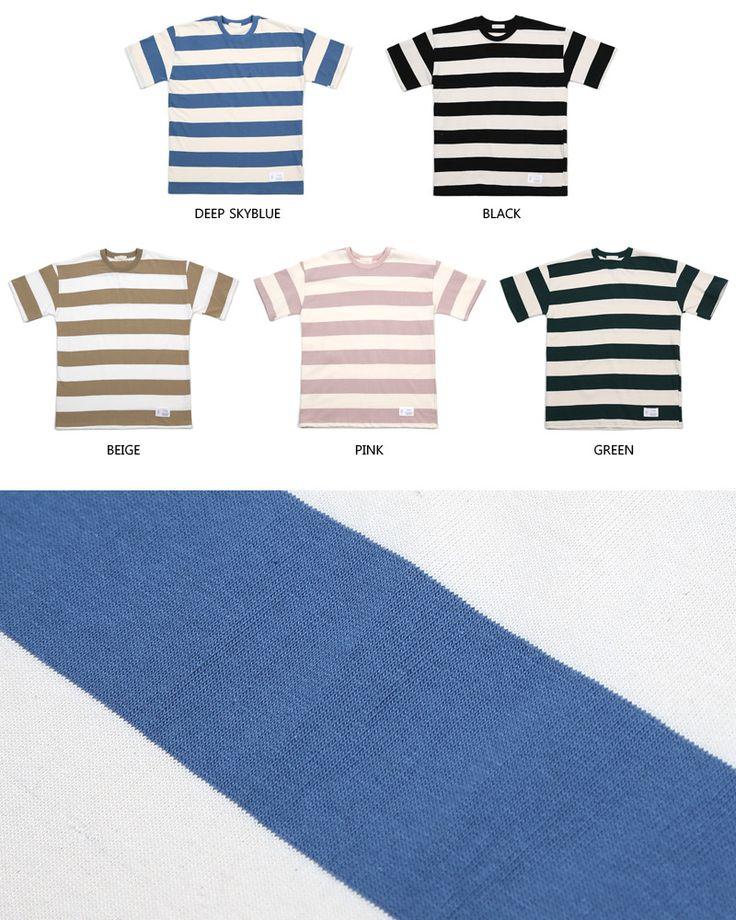 【楽天市場】ボクシーフィットワイドボーダーTシャツ・全5色 n50264 メンズ【tops】【トップス カジュアル】【人気】:DHOLIC【ディーホリック】