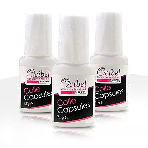 Ocibel 3 Colles Capsules pour Ongles avec Pinceau 7,5 ml Price:     - Application facile - Adhésion rapide - Parfaite adhérence- Pinceau applicateur- Lot de 3 collesCette co...