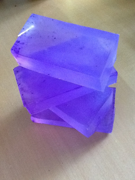Organic Glycerin Lavender Soap by ClaresBeautique on Etsy, $4.00