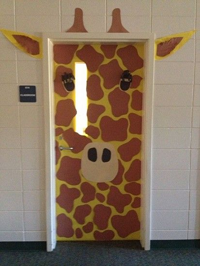 22 Creative Classroom Door Ideas: jungle, fire month, reading month, winter, and others!