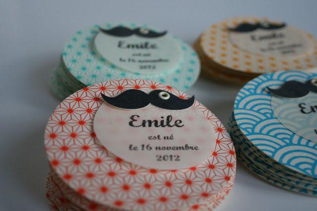 Fleur de pommier dans son atelier: Faire part moustache pour bébé Emile ...