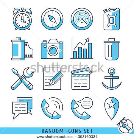 Random icons set vector illustration - stock vector