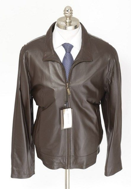 DI BELLO Italy Solid Brown 100% Leather Zip Car Coat  |  Go Shopping! http://www.frieschskys.com/leather/leather-coats-jackets  |  #frieschskys #mensfashion #fashion #mensstyle #style #moda #menswear #dapper #stylish #MadeInItaly #Italy #couture #highfashion #designer #shopping