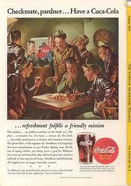 1941: després de l'atac de Peral Harbour, la companyia Coca Cola convenç al departament de Guerra dels Estats Units d'Amèrica de que la seua beguda és crucial per a l'esforç bèl·lic. Després de la guerra s'havien consumit 5 bilions.