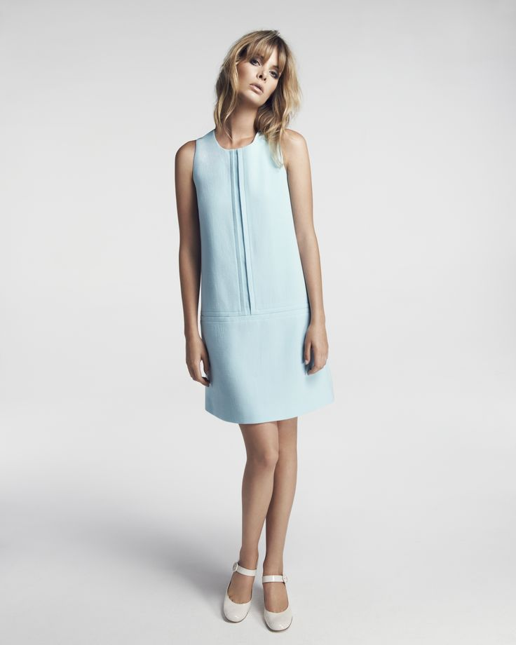 very Jackie O. Buzz Dress available now in Aqua and Cream http://www.goatfashion.com/dresses/buzz-dress-aqua