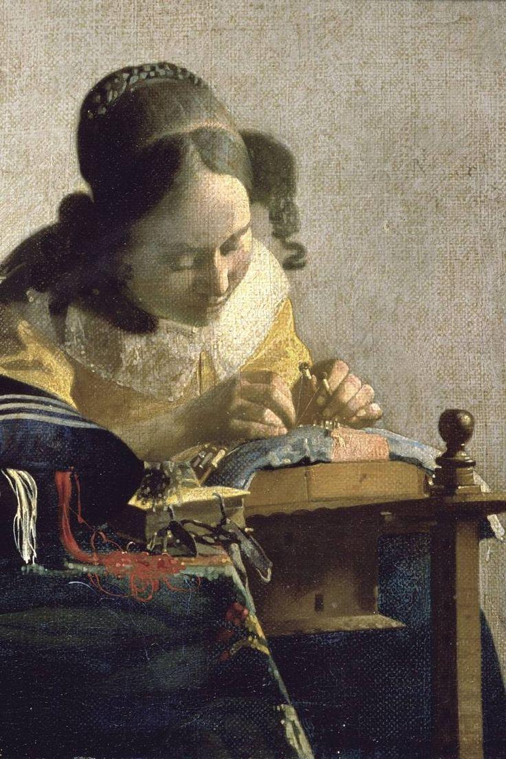 The Lacemaker, Jan Vermeer - 1600x1200 - ID 7495. Ян (Йоханнес) Вермеер
