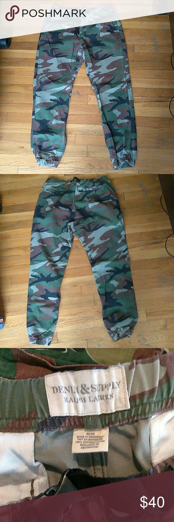 Denim Supply camo jogger pants size Medium Denim Supply camo jogger pants size Medium in good condition Denim & Supply Ralph Lauren Pants Sweatpants & Joggers