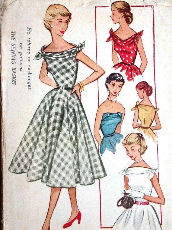 McCalls Dress Pattern No 9418 UNCUT Vintage by CaliforniaSunset, $15.00