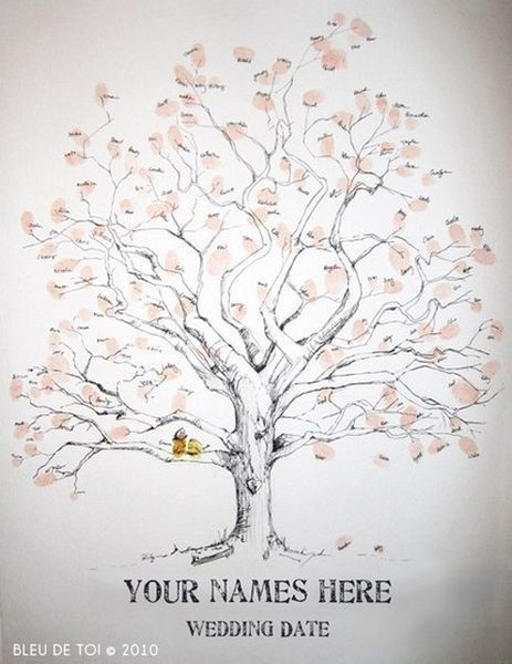 'The Giving Tree' inspired guestbook.
