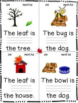 Practice With Position Words is a packet of activities for use in learning centers in Pre-K, K and 1st grade classrooms, or anywhere when extra practice of basic position words would enhance learning.  $
