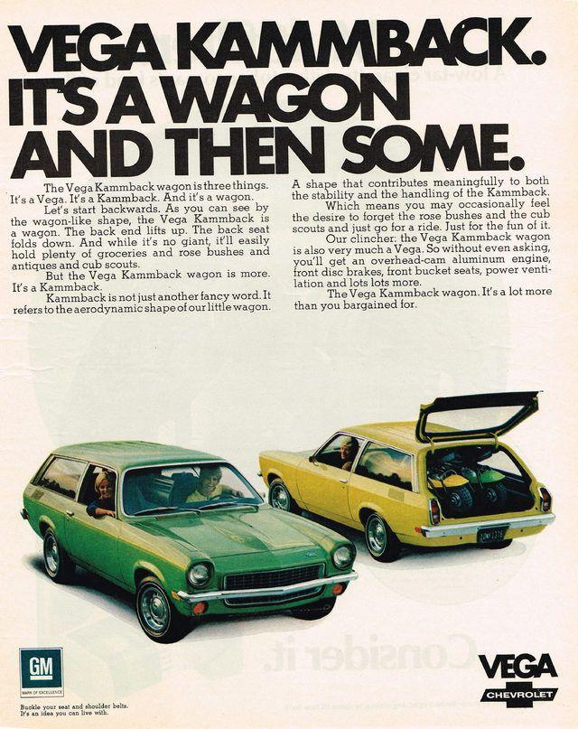 1971 Chevrolet Vega Kammback Wagon Advertisement