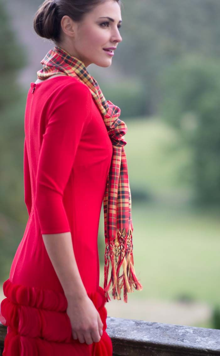 Silk Scarf in Strathearn tartan (Kate Middleton's ...