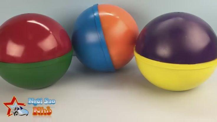 Mở 3 Quả Bóng Bất Ngờ Đồ Chơi Disney Tsum Tsum Peppa Pig với Trứng Bất Ngờ Socola