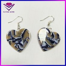 New Design Acetie Acid Cellulose Acetate Plate Pendant Earrings Women's Jewelry