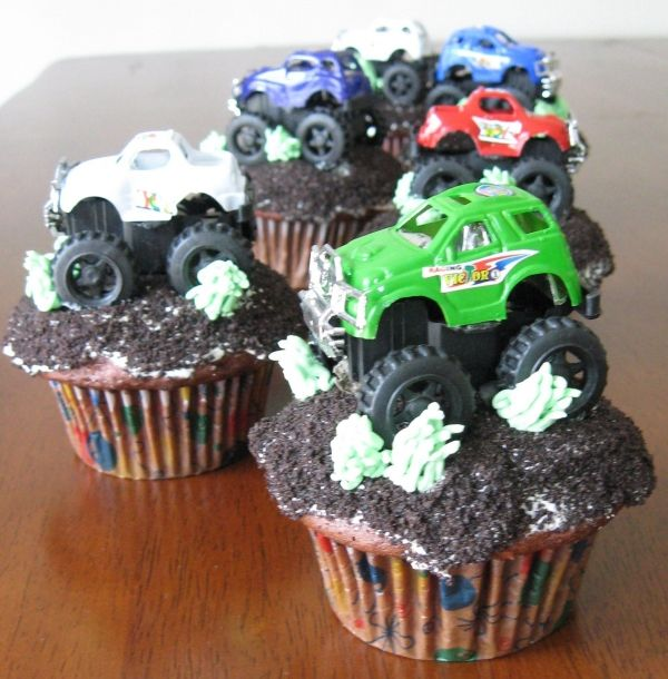 Now these would be cool for a little boys party!! Truck cupcakes...gotta have some for boys