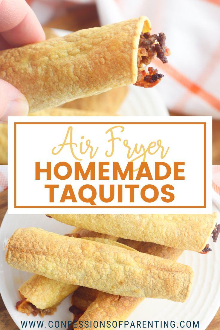 Air Fryer Taquitos Recipe in 2020 Homemade taquitos