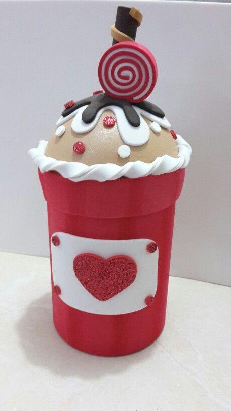 Cupcake goma eva o foamy