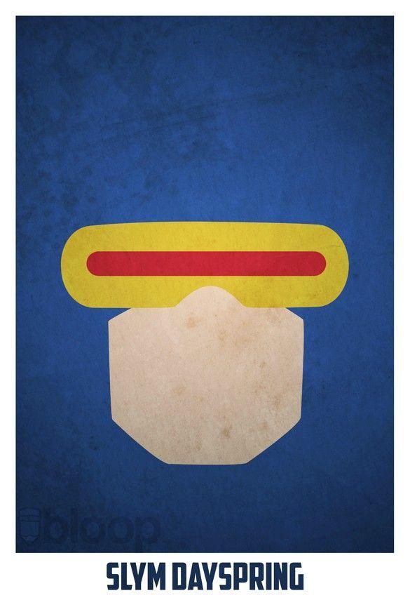 Bloops superhero poster