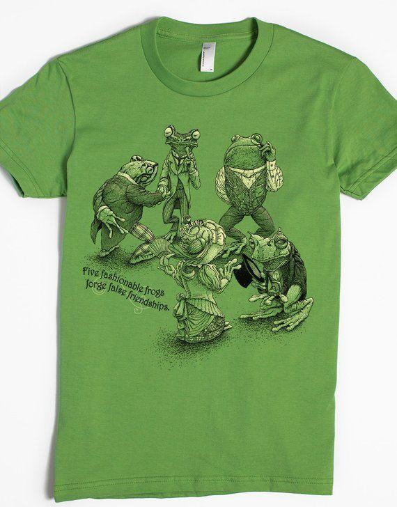 1aa87e48c814c Frog Gift - Women's Screen Print Shirt - Funny Tshirts - Frog Art ...