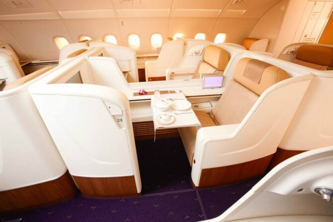 The Most Amazing Luxury Flights, Thai Airways Check more at http://beautifulplaces-no1.com/the-most-amazing-luxury-flights-that-are-better-than-a-hotel/