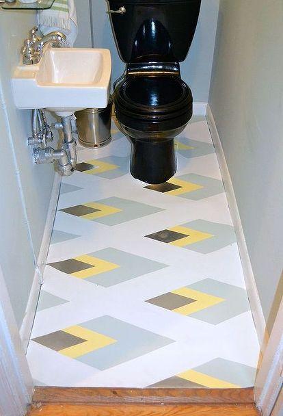 1000 ideas about painting linoleum on pinterest for Lino bathroom flooring ideas