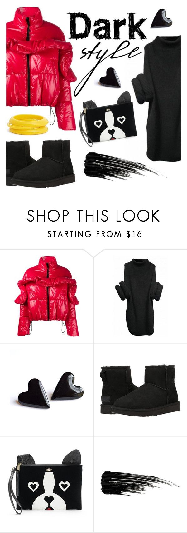 """dark style"" by janesmiley ❤ liked on Polyvore featuring MSGM, UGG Australia, Juicy Couture, Urban Decay and ZENZii"