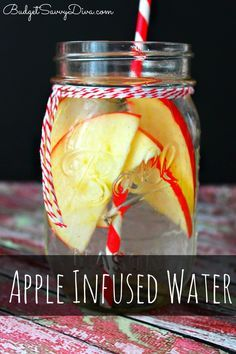 This is one of my FAVORITE infused waters - light taste of apple with a hint of cinnamon. budgetsavvydiva.com