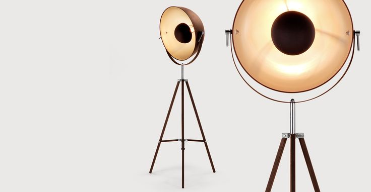 Chicago Floor Lamp, Antique Copper and Gold