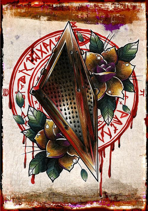 Silent Hill tattoo! Great idea I would take away the pyramid head helmet. And…