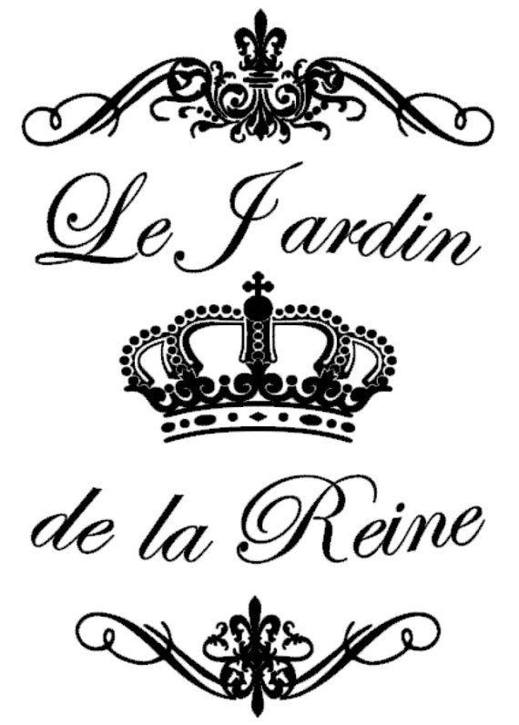 La Jardin de la Reine  French  The Queen's by BrownBagStencilCo
