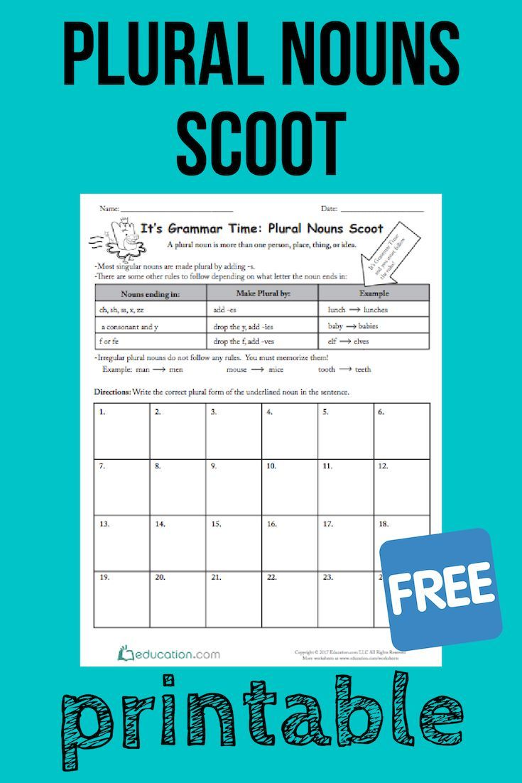 It S Grammar Time Plural Nouns Scoot Looking For A Fun Grammar Game Try The Game Scoot With Your Students They Ll Master Form Plurals Nouns Plural Nouns [ 1102 x 735 Pixel ]