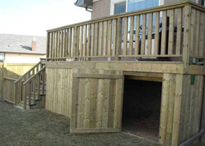 CREATE ESCAPE - Sage Meadows.  ACQ treated deck and storage area. Great for storage.