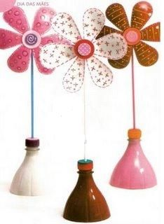 Flor de garrafa pet - lembrancinha de dia das mães