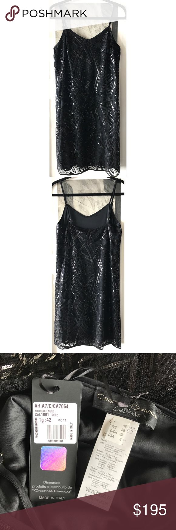 🆕 NWT Barneys NY Cristina Gavioli Sequin Dress 🆕 NWT Barneys New York Cristina Gavioli Sequin Shift Dress for Fall 2017 (current season).  100% polyester.  Italian size 42/US Size 6-8 or Medium.  Gorgeous Dress.  Made in Italy.  Collection carried at Neiman Marcus and Barneys NY; high end designer piece.  Tags on dress; perfect t condition; flawless; boutique quality. Barneys New York Dresses