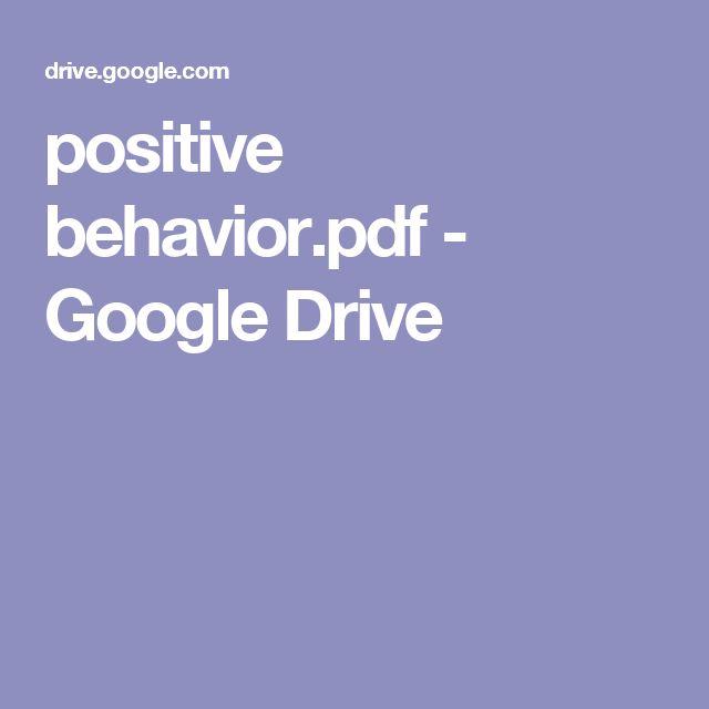 positive behavior.pdf - Google Drive