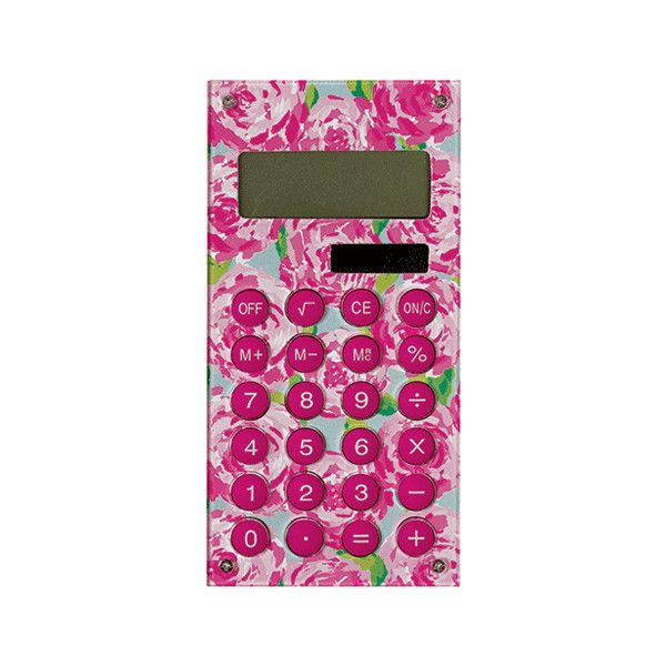 Lilly Pulitzer Calculator ($10) ❤ liked on Polyvore featuring extra, accessories, house, other, random and filler