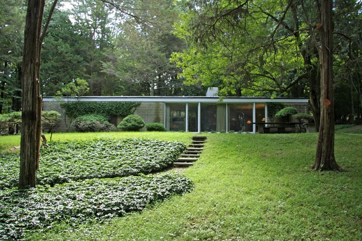 The Booth House Modern Home in Bedford, New York by Philip Johnson on Dwell