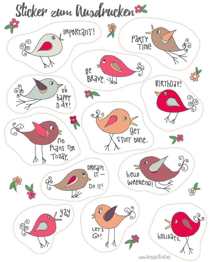 Alessas Blog: Sticker zum Ausdrucken für Filofax, Kalender, Planer free printable stickers
