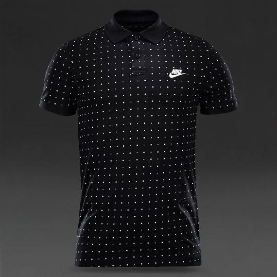 Nike Sportswear Bonded Polo - Black / White