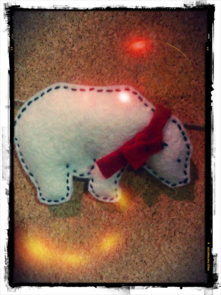 polar bear (handmade)