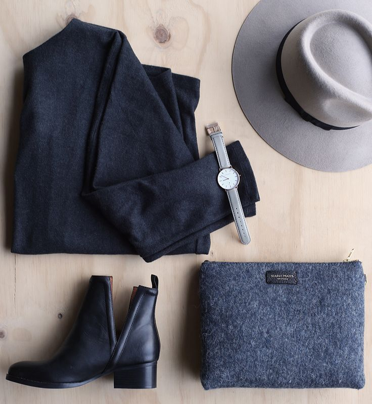 Women's Winter Essentials!  Wrap up warm in the Deco Stitch top at DEAD SET, Jeffery Campbell boots by Andrea Biani South Island, accessories by Zip Me Up with their Stone Aspen Fedora & Classic Grey The Horse Watch, styled also with Rouche Deadly Ponies Mr Burmese clutch.