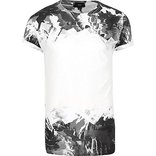 White mono camo fade print T-shirt - Print T-Shirts - T-Shirts / Vests - men