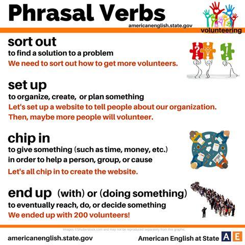 Phrasal Verbs: volunteering