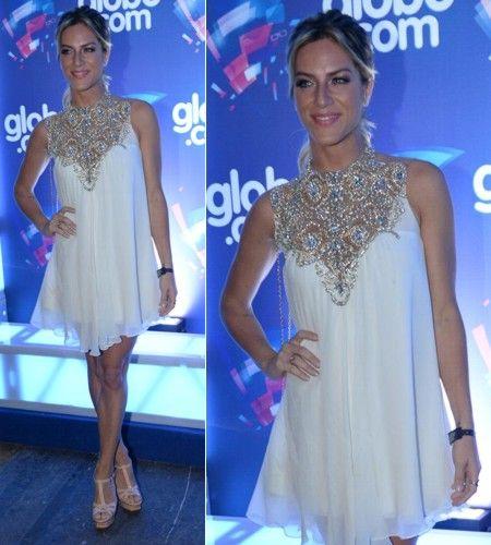 Vestido soltinho branco de Giovanna Ewbank