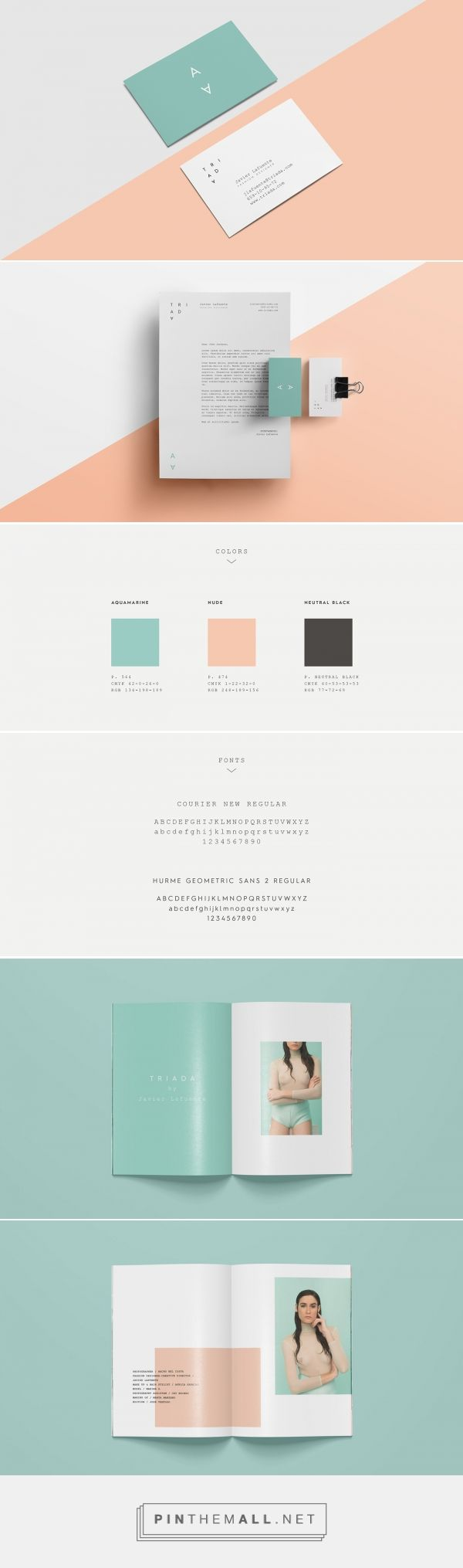 TRIADA - Fashion Collection. Branding and website on Behance... - a grouped images picture - Pin Them All