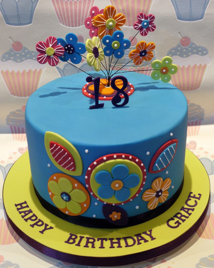 Th Birthday Cake Flowers