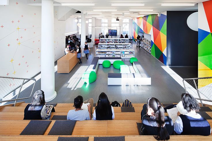 Hamilton Grange Library Teen Center | NY NY | Rice+Lipka Architects | Great use of smaller space for wide range of activities and scales