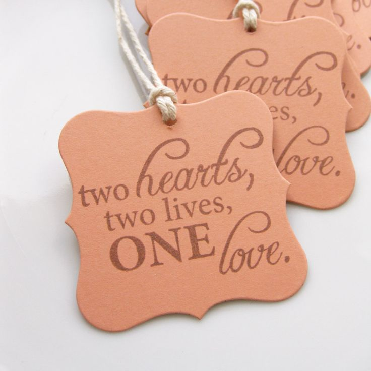 Wedding Favor Tags Love Quote - Set of 8 - Custom Colors Available - Bridal Shower Wedding Tags. $4.75, via Etsy.