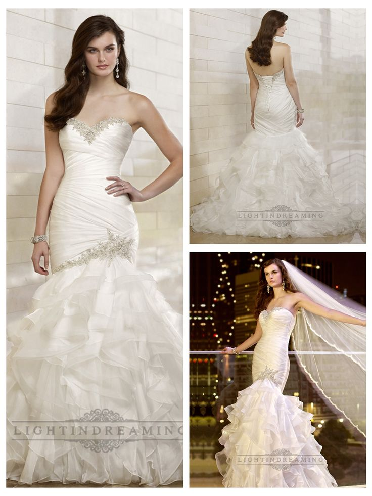 Trumpet Mermaid Beaded Sweetheart Dreaped Bodice Wedding Dresses with   Layered Skirt http://www.ckdress.com/trumpet-mermaid-beaded-sweetheart-dreaped-  bodice-wedding-dresses-with-layered-skirt-p-508.html  #wedding #dresses #dress #lightindream #lightindreaming #wed #clothing   #gown #weddingdresses #dressesonline #dressonline #bride