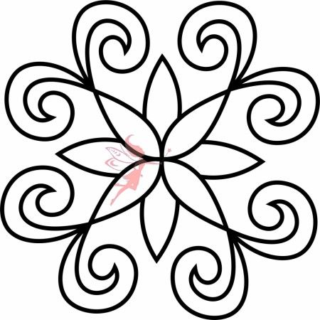 Quilt Block Stencil - Fairy Quilt #quiltstencil #fairyquilt #quilting #quiltingideas #blockstencil